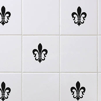 Spin Collective Fleur De Lis Wall-tile Sticker Set
