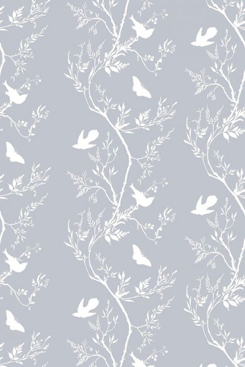 Birdbranch Stripe Hand-print Wallpaper