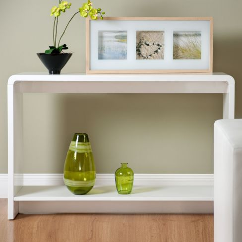 Toscana White Gloss Console Table