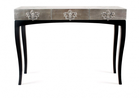 Trinity Silver and Black Console Table