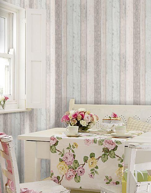 Albany Wood Panelling Wallpaper