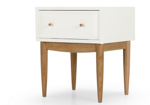 Willow White Bedside Table