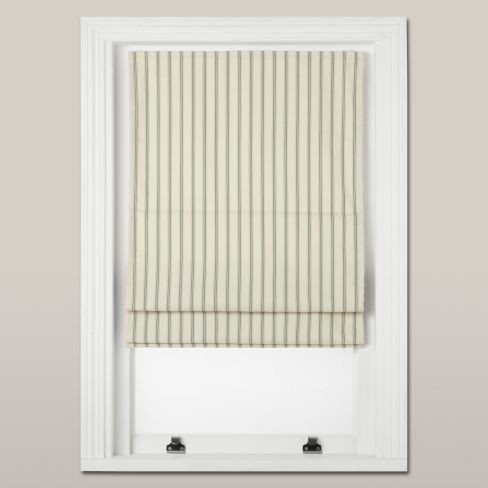 Ticking Stripe Roman Blind