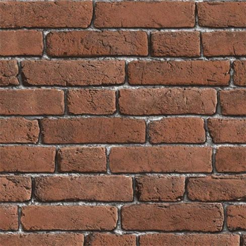 Brick Effect Red Wallpaper