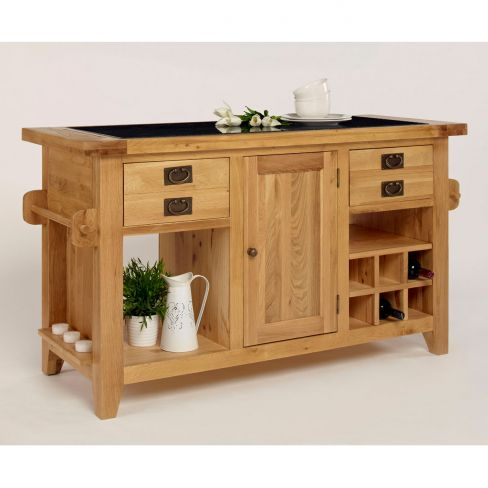 Chiltern Grand Oak Granite-top Kitchen Island