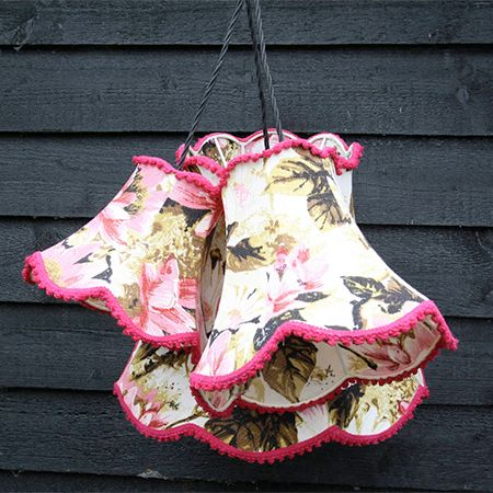 Vintage Lampshade Cluster Light