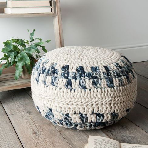 Chunky Knitted Pouf