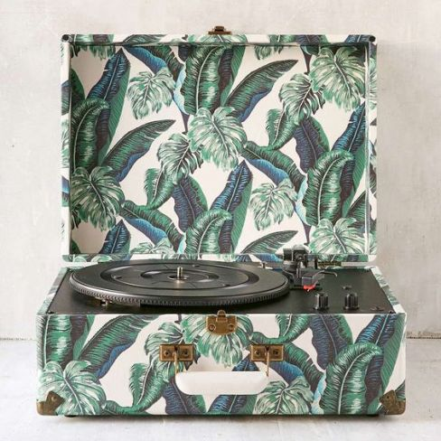 Crosley Palm Print Keepsake Record Player