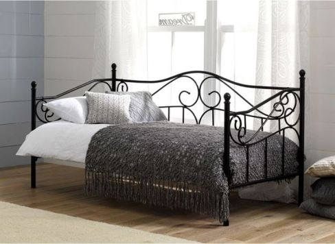 Amy Black Metal Day Bed