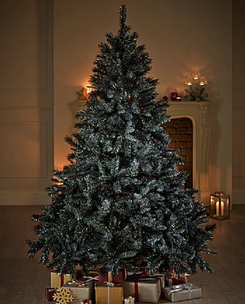 Black Glitter-tipped Fir Tree
