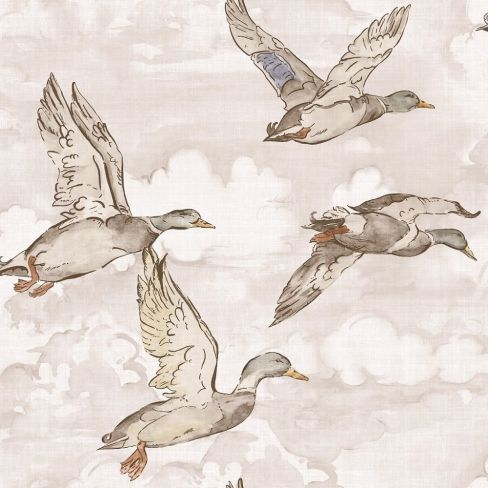 Gran Deco Flying Ducks Wallpaper