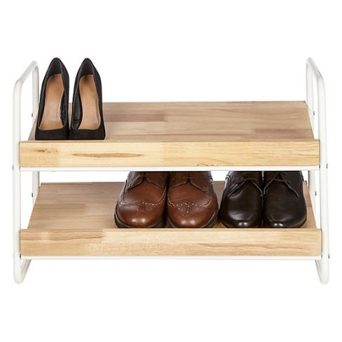 Two-tiered Shoe Rack