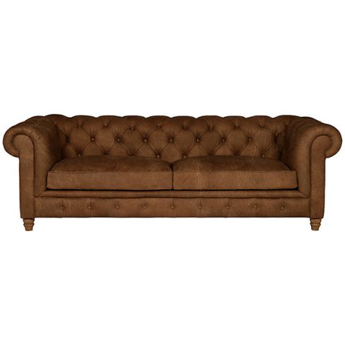 Earle Grand Chesterfield Leather Sofa