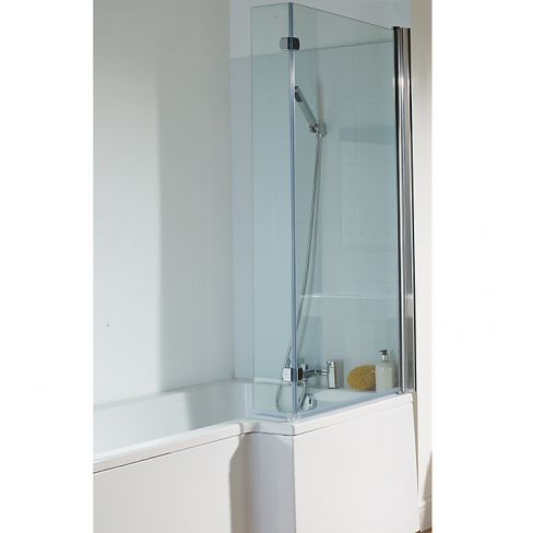 L-shaped Shower Bath and Shower Screen