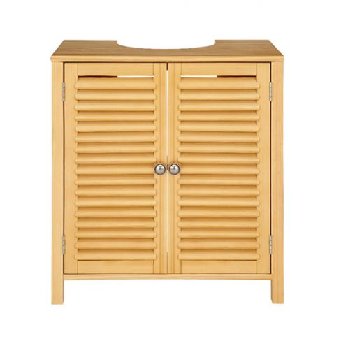 Louvred Two Door Storage Unit Cabinet