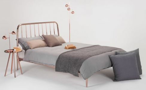 Alana Copper Double Bed