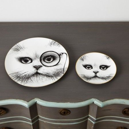 Monocle Cat Plate