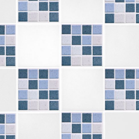 Blue Mosaic Tile Transfers