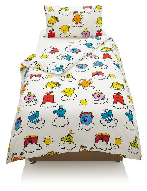 Mr Men Cloud Print Bedding Set