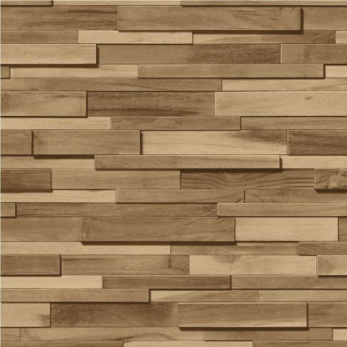 Muriva Thin Wood Blocks Wood-effect Wallpaper