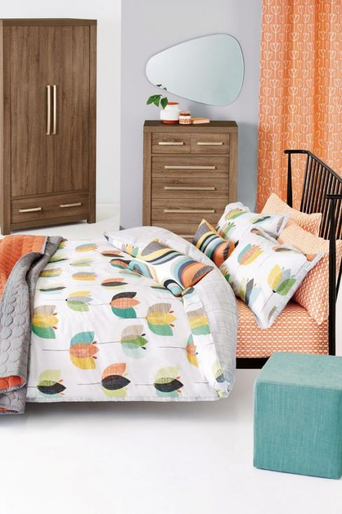 Cotton Rich Retro Tulip Bed Set