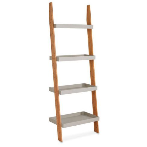 Bamboo Ladder Shelf Storage