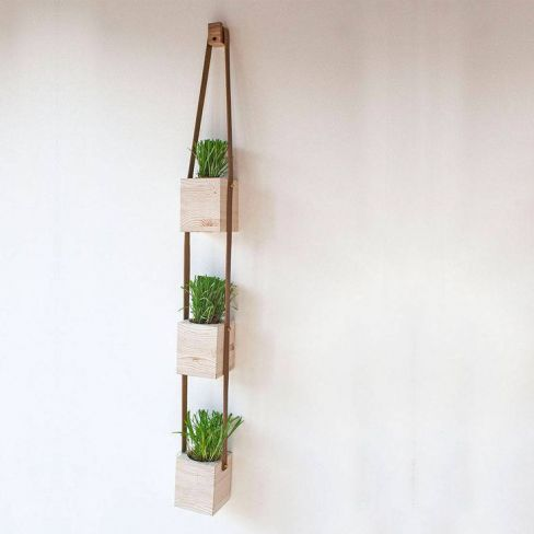 Three Tier Hanging Wooden Planter