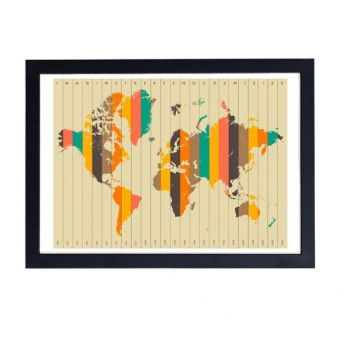 Imagine There's No Countries by Jazzberry Blue Wall Art