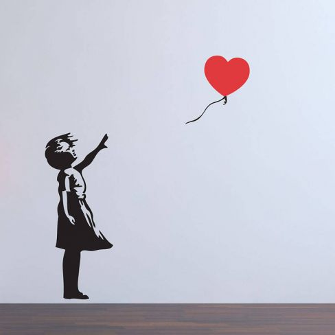 Balloon Girl Wall Stickers