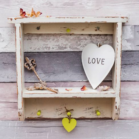 Distressed Country Cottage Wall Shelf