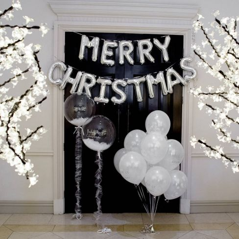 Merry Christmas Balloon Letters