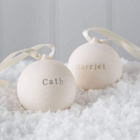 Personalised Metallic Classic Ceramic Bauble