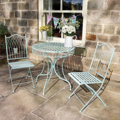 Summerhouse Blue Bistro Table and Chairs Set