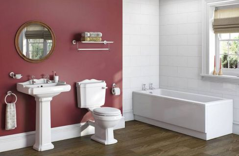 Winchester Bathroom Suite with Kensington Bath