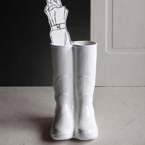 Wellington Boots Porcelain Umbrella Stand