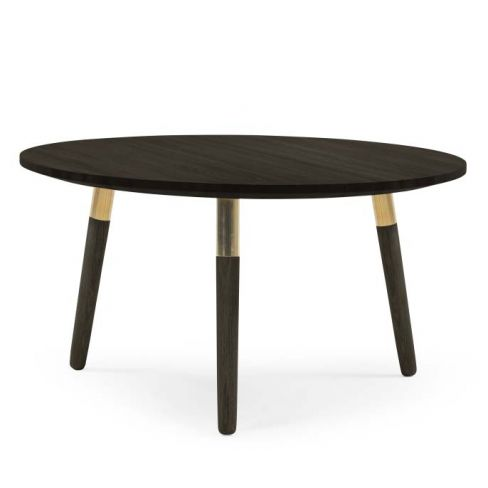 Range Round Coffee Table in Dark Stain Ash Veneer