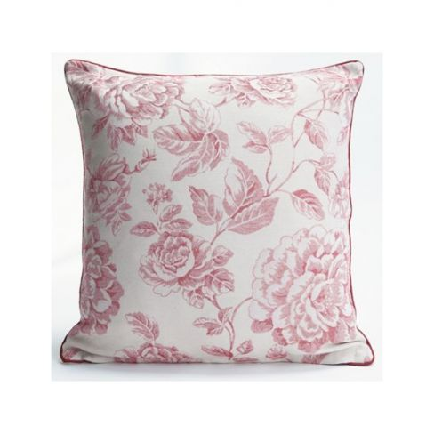 Sino Red Floral Cushion