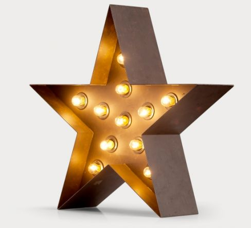 Broadway Collection Star Table Lamp