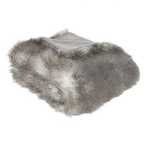Linea Luxury Stripe Faux-fur Throw