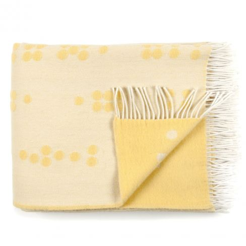 Dot Yellow Wool Throw by Rosenbergcph