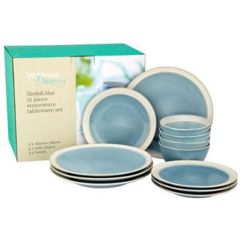 Waitrose Dining Norfolk Blue 12 Piece Set