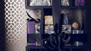Contemporary Opulent Display of Presents