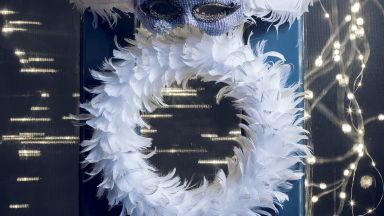 White Feather Front Door Wreath