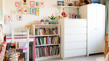 Child's Bedroom with Shelving