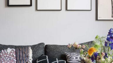 Grey Modern Living Room with Monochrome-print Gallery