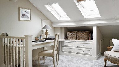 Traditional Home Office with a Neutral Colour Palette