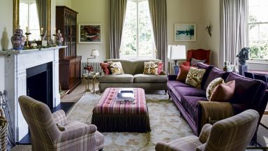 Traditional Multicoloured Sitting Room