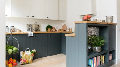 Grey Modern Kitchen with Two-tone Units