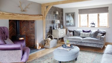 Country Living Room with Pale Oak Woodwork