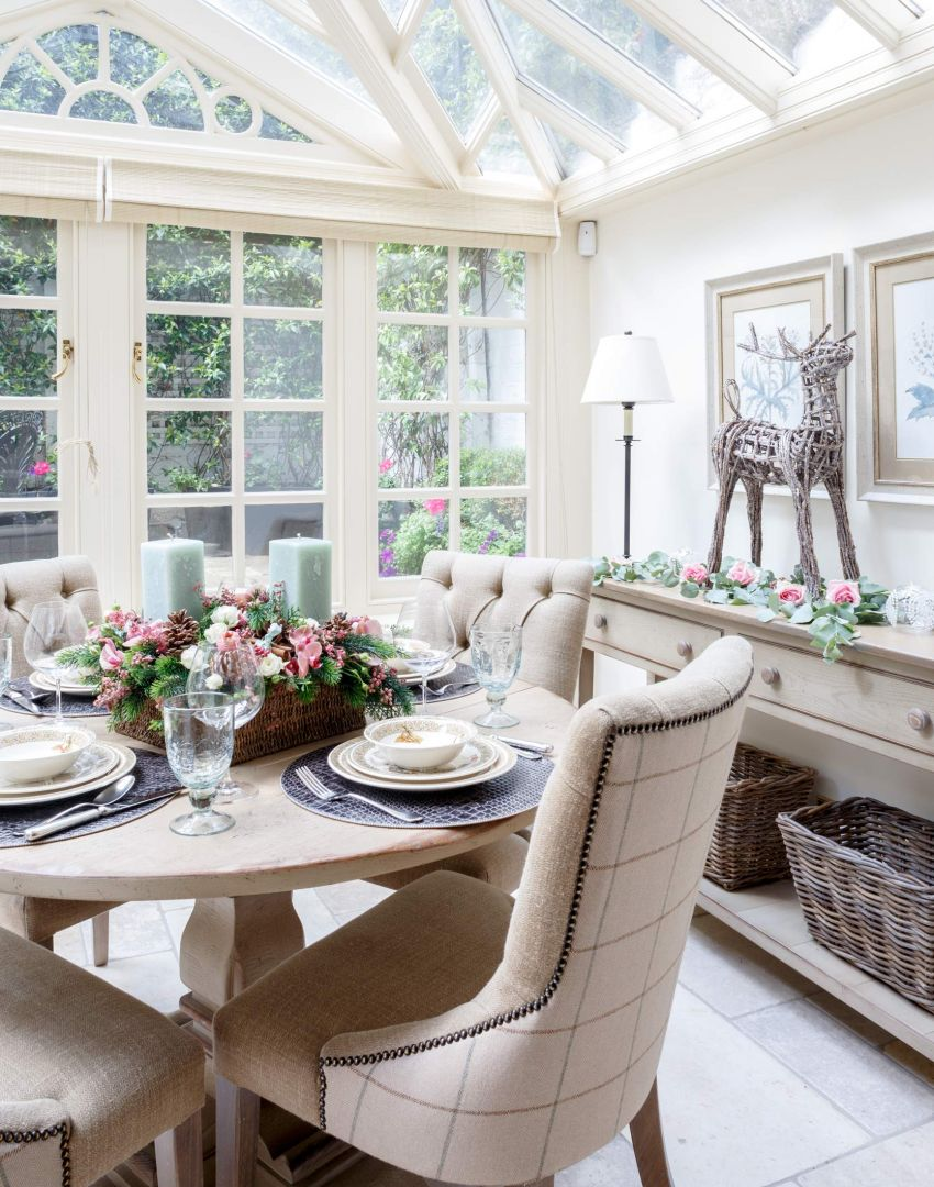 Take a turn around this elegant georgian townhouse in for Conservatory dining room design ideas
